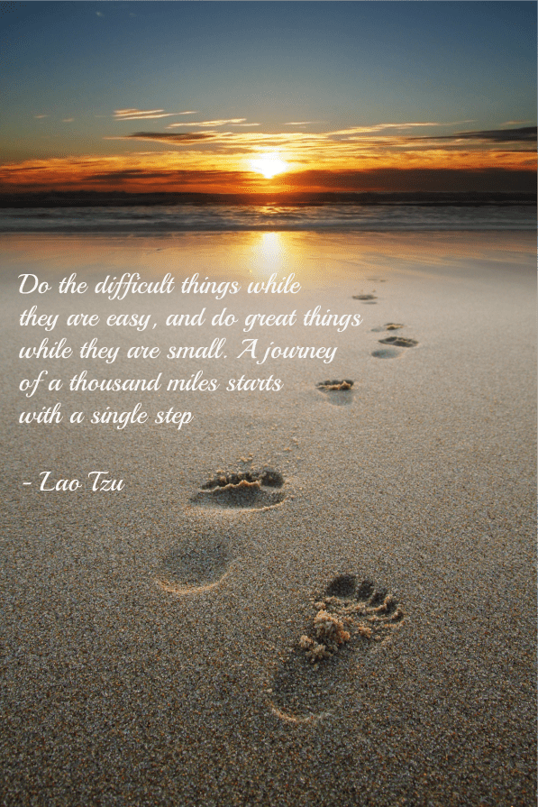 Lao Tzu quote on footsteps